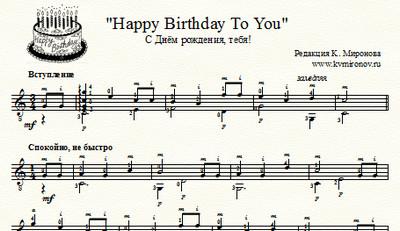 ноты с днем рождения тебя для скрипки